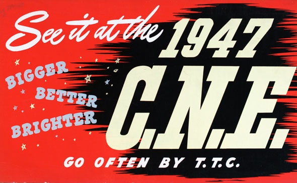 vintage ttc adverts 1947 CNE