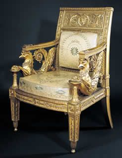 Dionisio and Lorenzo Santi armchair - Lady Lever Art Gallery, Liverpool museums
