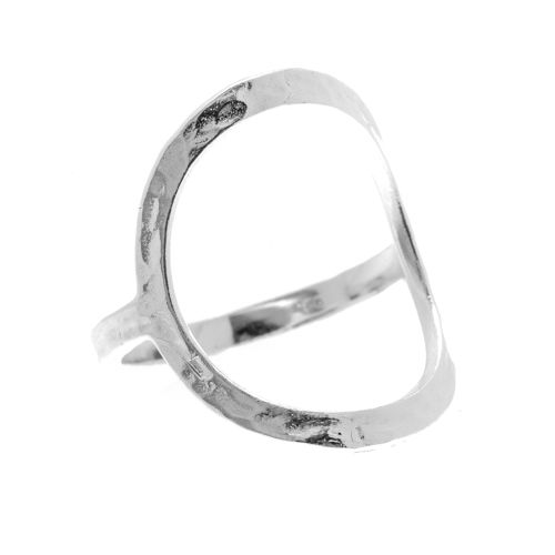 """Tic Tac Toe """"O"""" Ring in sterling silver $70 www.toriandtaz.com"""