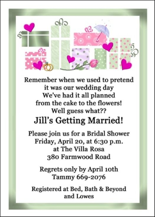 8 best images about Wedding shower invitations wording on Pinterest | Wedding quotes, Wedding ...