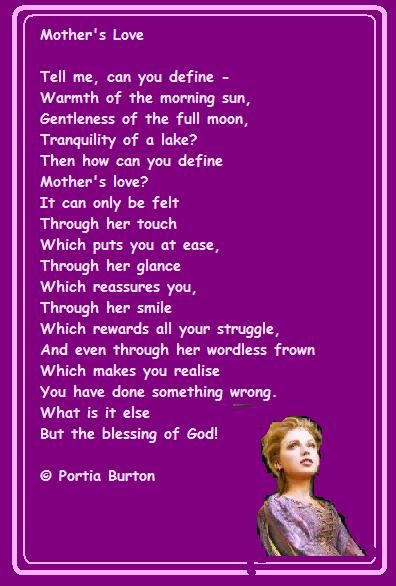 Mother's Love - a poem by me © Portia Burton