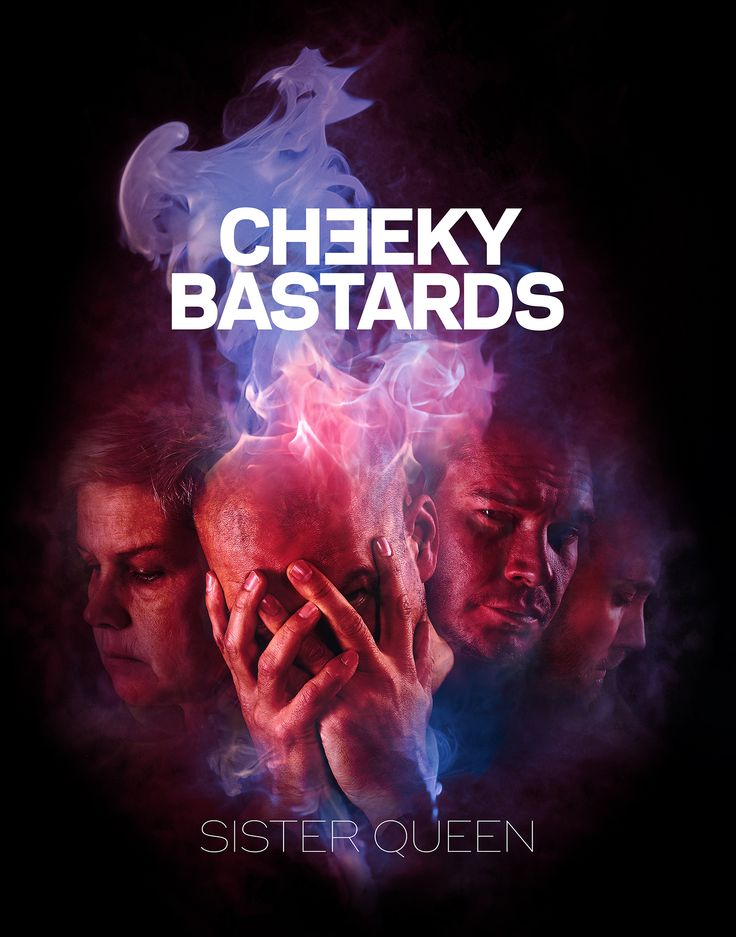 Cheeky Bastards - Finnish band new single, cover design, promo flyer, photo manipulation by Mika Tervaskangas / Therwiz Design. Cheeky bastards bändin Sister Queen single kansi, kansikuva, kuvankäsittely, photoshop, kuva, ulkoasu Mika Tervaskangas / Therwiz Design. Client / tilaaja Therwiz Music. #CheekyBastards #TherwizMusic #Therwiz #MikaTervaskangas #TherwizDesign #coverdesign #bandphoto #newsingle #garagerock #face