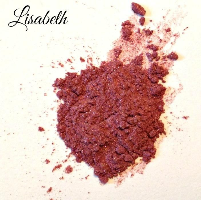 Let us Introduce one of our gorgeous eyeshadow colours : Lisabeth!!  A soft sparkly dusty rose.  Easy to apply and perfect for any style of makeup you want to create!
