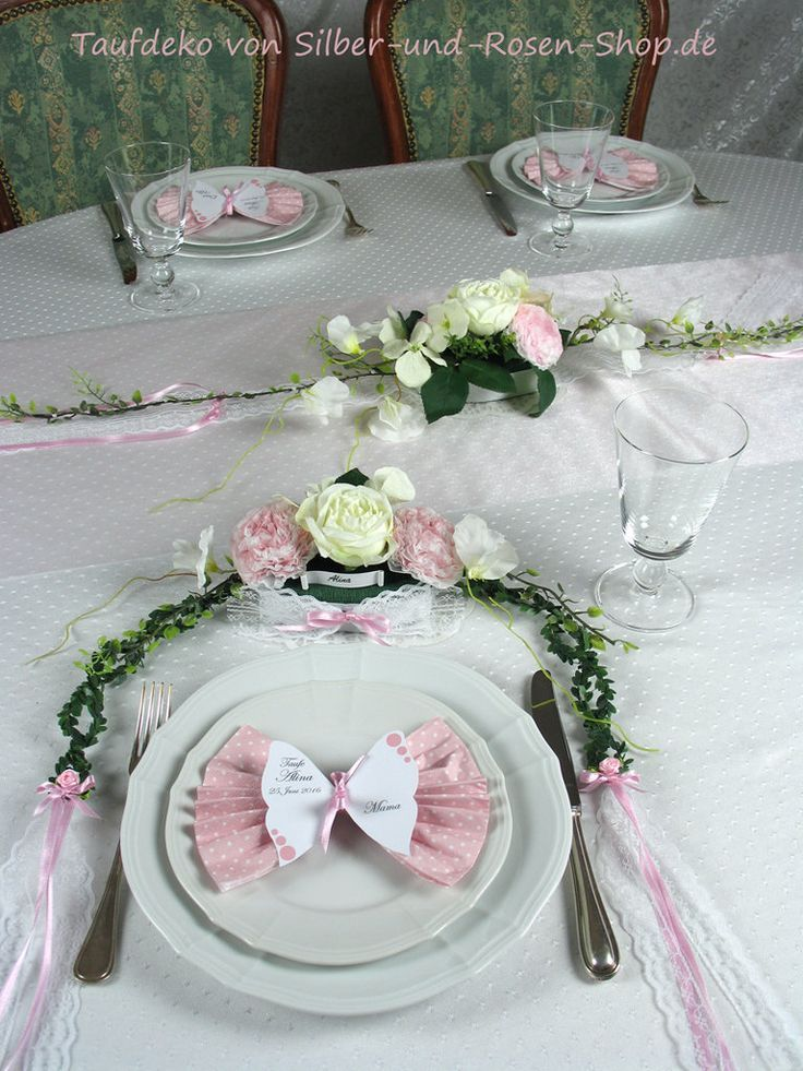 Tischgesteck Rosa Taufe Madchen Konfirmation Madchen Rosa
