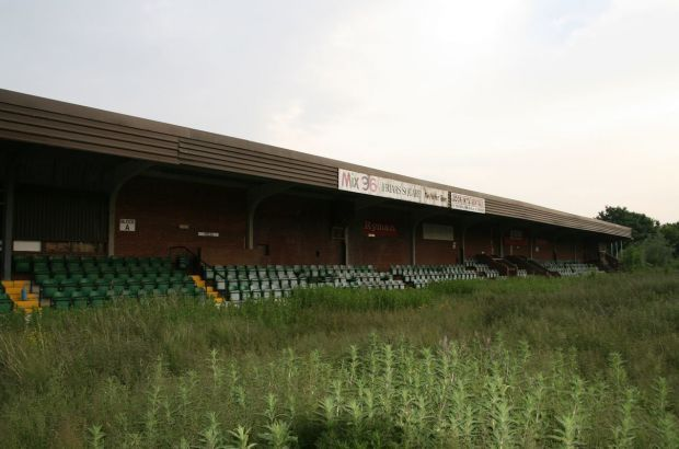 The stadium is now empty after Aylesbury United F.C. were evicted from the stadium in 2006.
