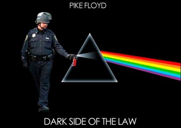 Police on the dark side
