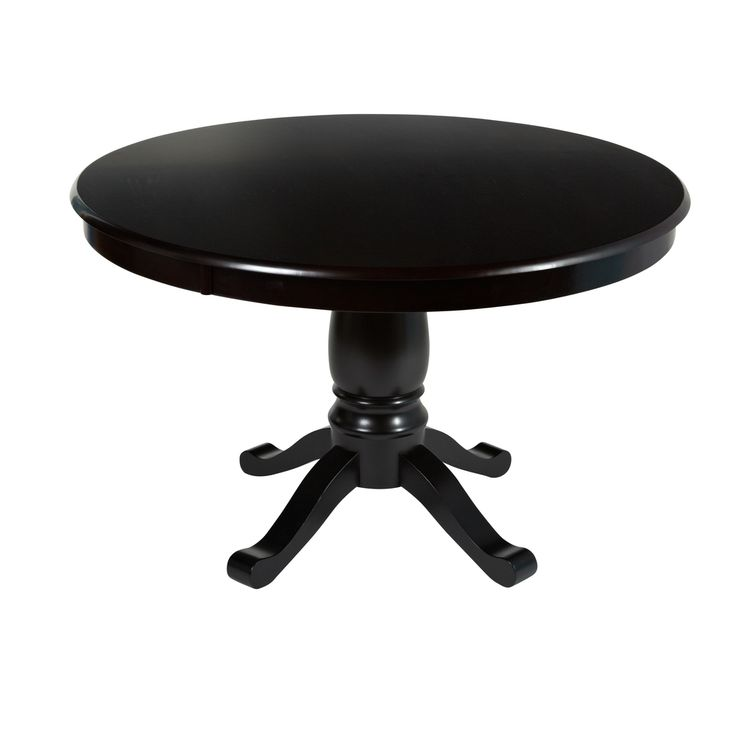 Simple Living Alexa Black Round Pedestal Dining Table