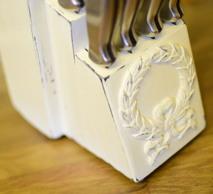 Painted Knife Block: 10 Best Images About Crafts On Pinterest