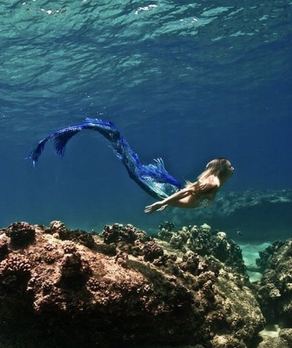 When we are in water, we are free, like the Mermaid.....no pain.....magical....