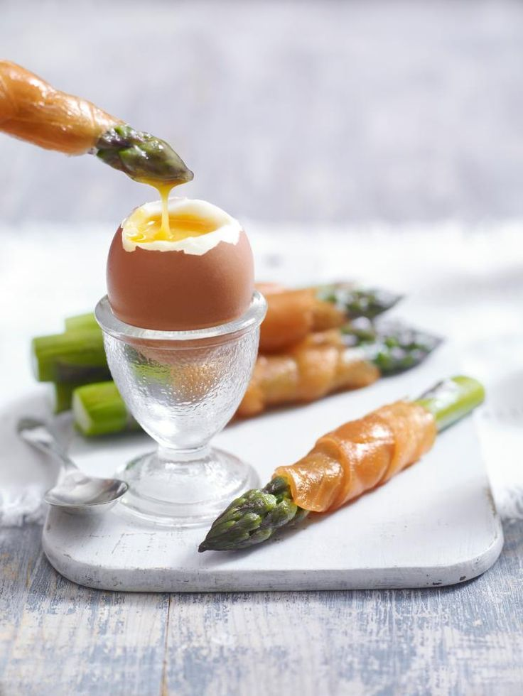 Try Heston Blumenthal's fantastic recipe for asparagus egg dippers with smoked salmon: http://bit.ly/jaqEK1