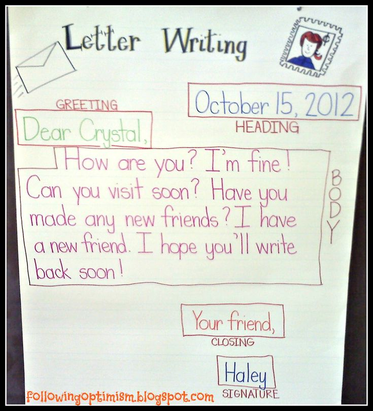 Best WriteFriendly Letter Images On   Teaching