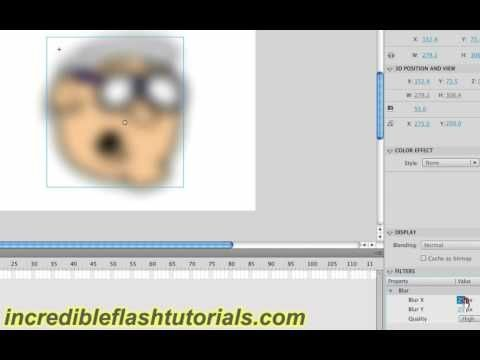 Adobe Flash Tutorial- How to Use Filters