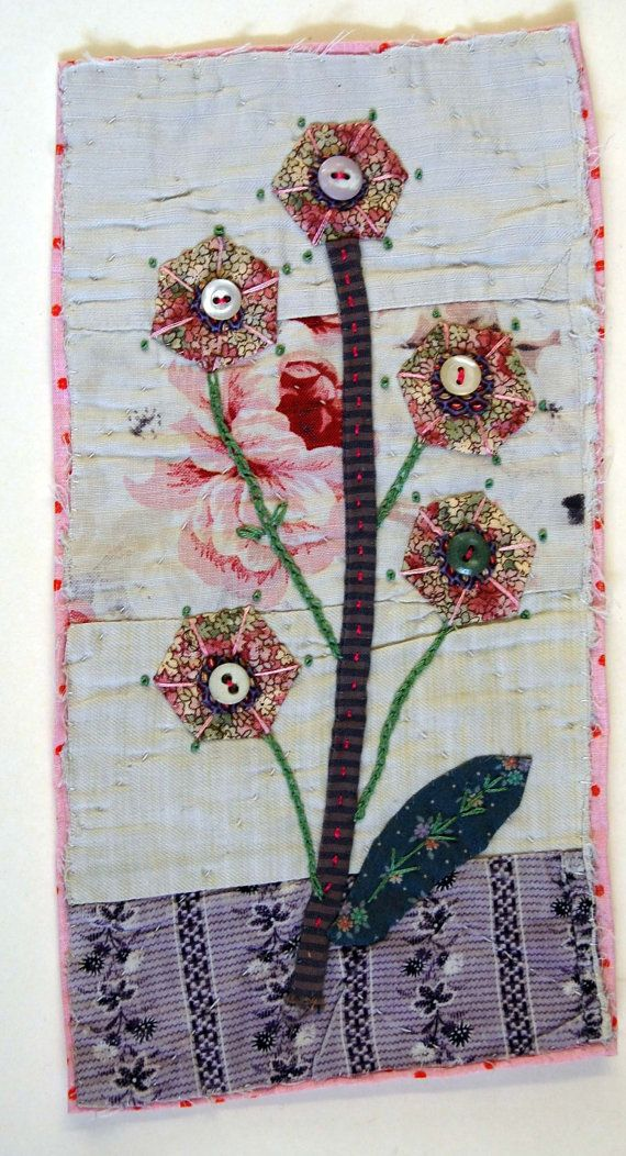 Hand Appliqued and Embroidered Textile Picture on by MandyPattullo,
