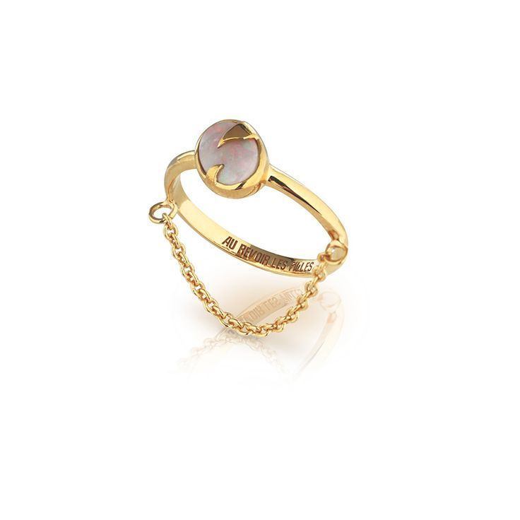 SURRENDER RING   Gold plated with Australian white opal   Au Revoir Les Filles
