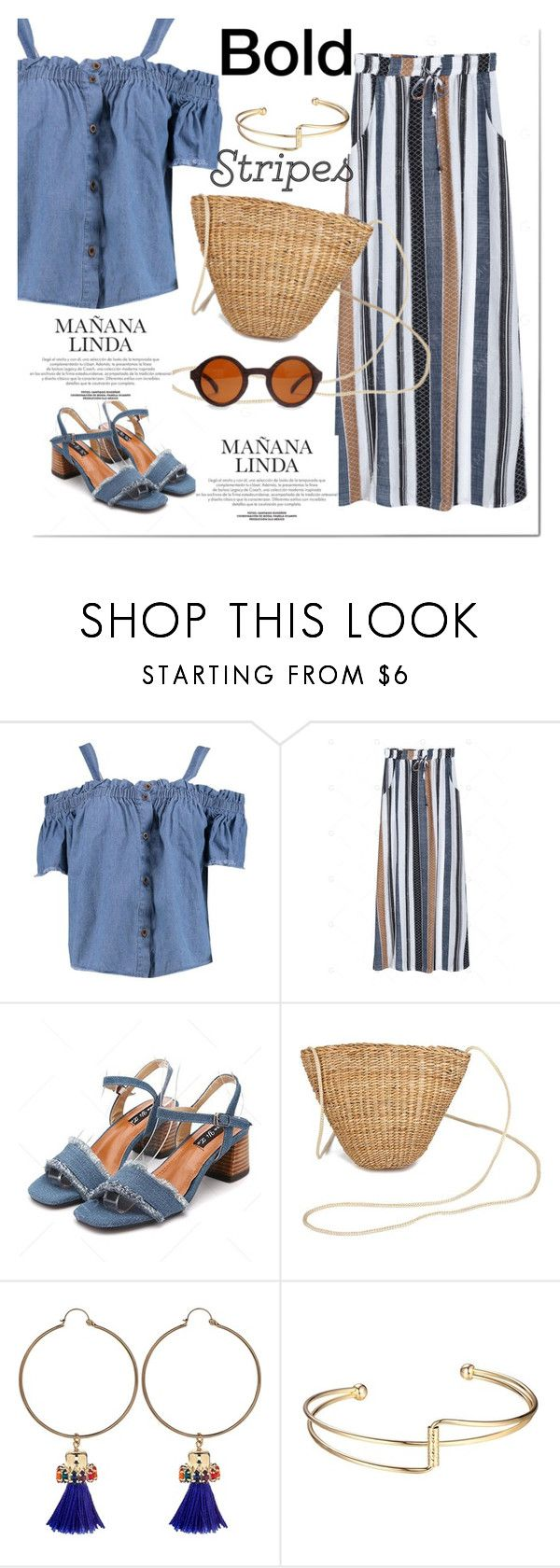 """""""stripes on"""" by marshmallows-1 ❤ liked on Polyvore featuring Boohoo and Anton Heunis"""