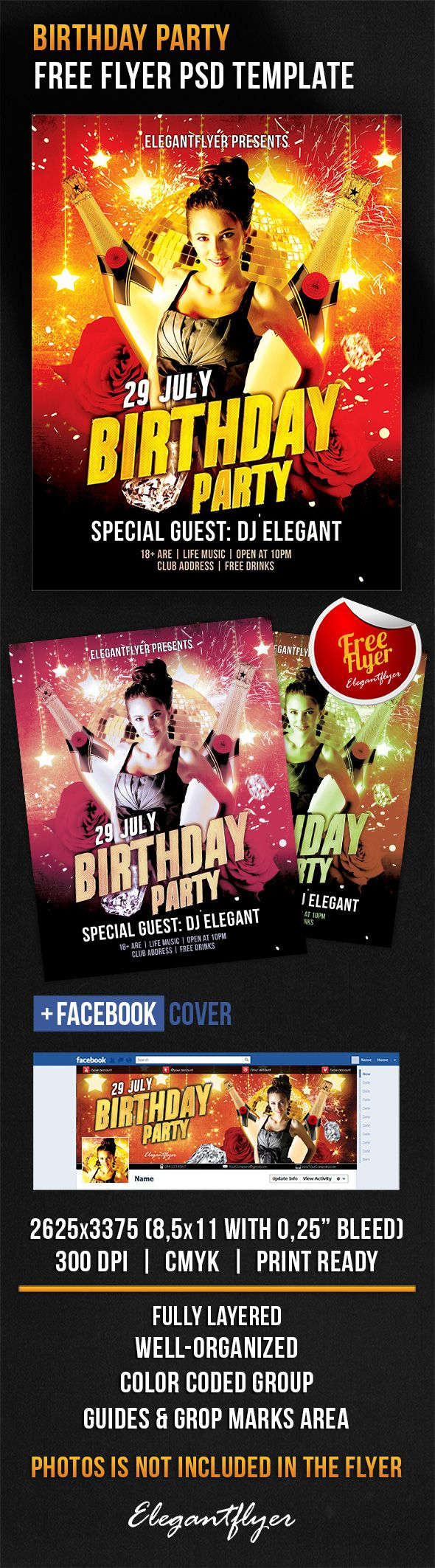 17 best images about psd flyer design 2015 birthday party flyer psd template facebook cover