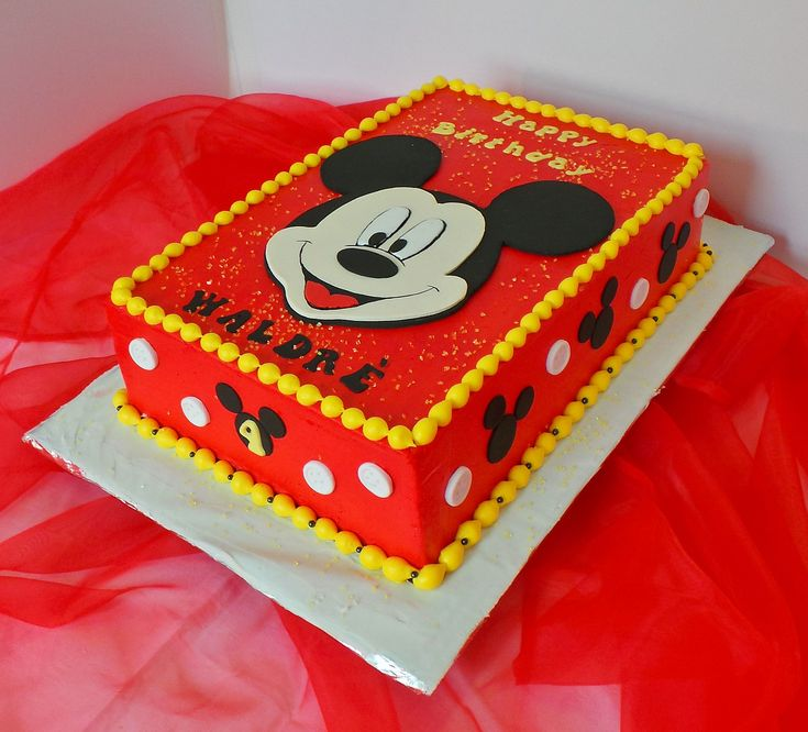 Mickey Mouse themed birthday cake | Willi Probst Bakery | Flickr