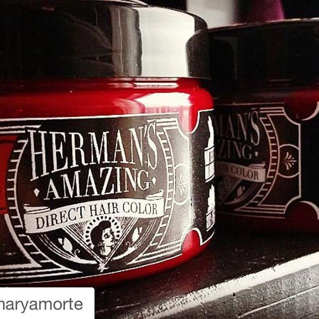 #Repost @maryamorte ・・・ Cybershop now has it's own direct hair color. Let's test what these will do! #cybershop #direct #haircolor #red #rubyred #hermansamazing #hermansamazinghaircolor #vegan #nottestedonanimals #crueltyfree @hermansprofessional