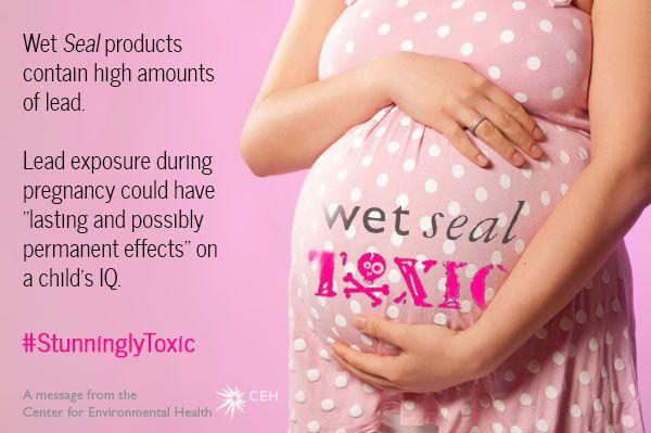 The gift that keeps on giving. Wet Seal #lead #pregnancy #toxic #fashion #holiday #shopping #kids #moms #teenmoms #stunninglytoxic