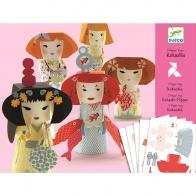 Djeco - Kokeshis Paper Toys by Djeco