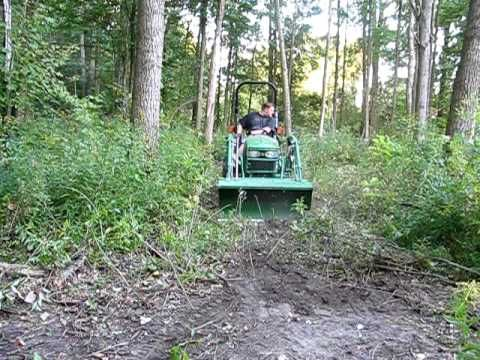 John Deere 2320 blaze a new trail in 5 minutes (if your only attachment is a loader)