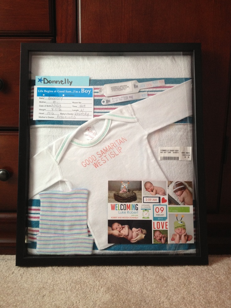 Baby Shadow Box. I Like The Blanket As The Background