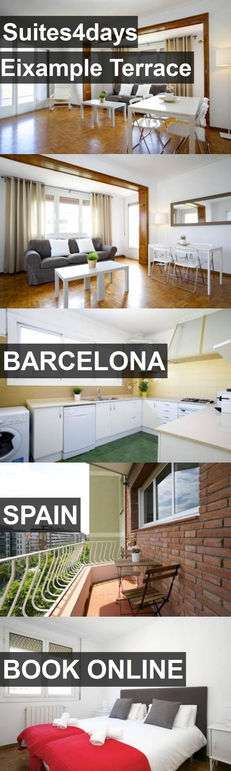 Hotel Suites4days Eixample Terrace in Barcelona, Spain. For more information, photos, reviews and best prices please follow the link. #Spain #Barcelona #travel #vacation #hotel