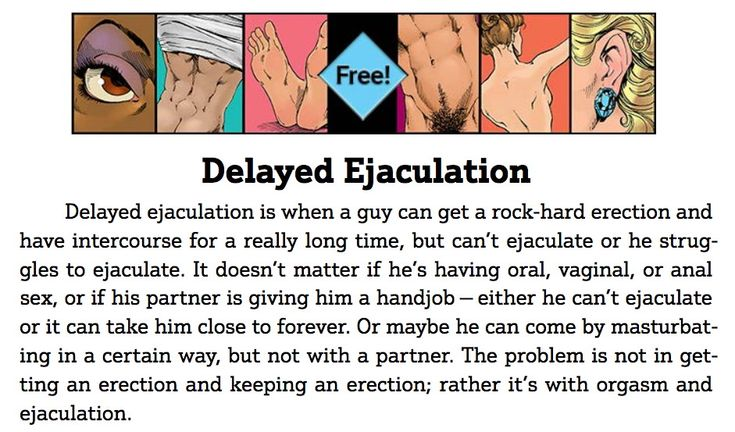 Guide To Getting It On: Delayed Ejaculation (PDF) https://www.guide2getting.com/wp-content/uploads/2015/11/Delayed-Ejaculation.pdf (free chapter)