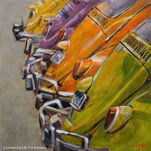 Susie Cipolla, 'Eye Candy', 12'' x 12'' | Galerie d'art - Au P'tit Bonheur - Art Gallery