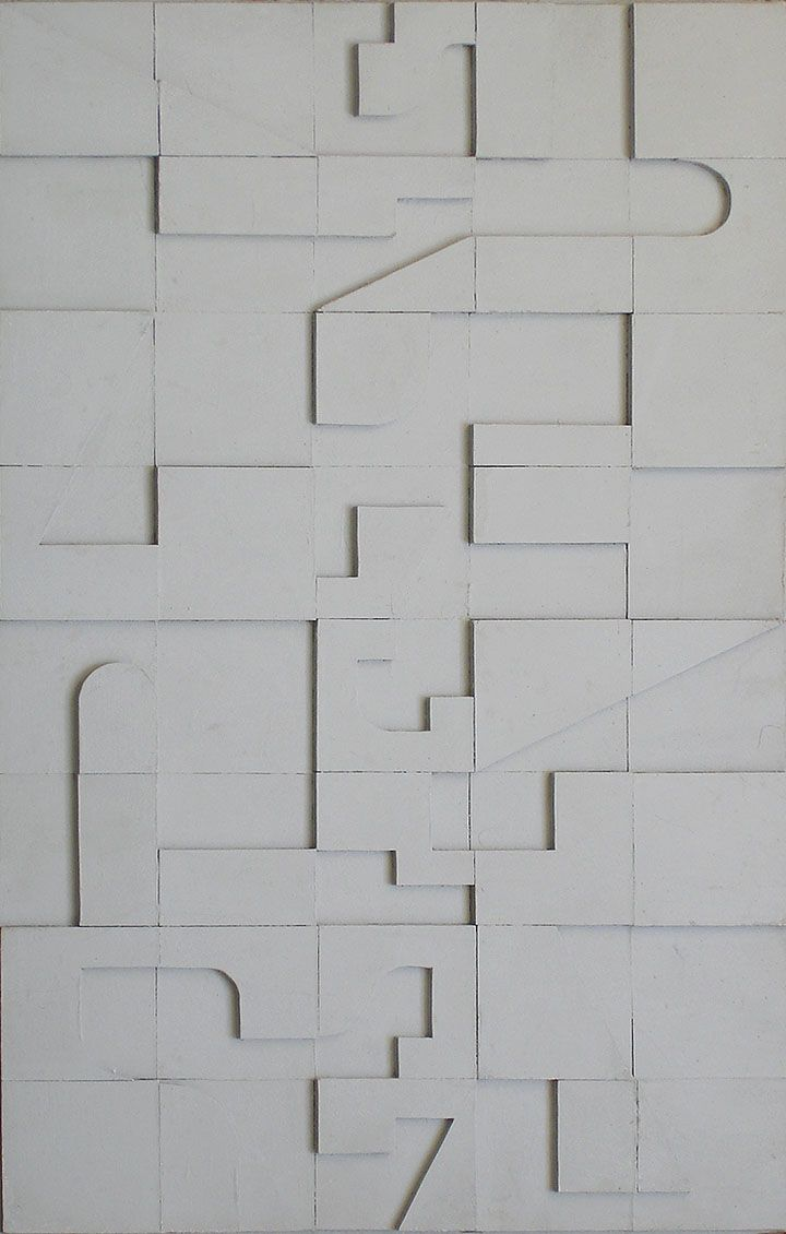 Norman Ives  wood relief composition