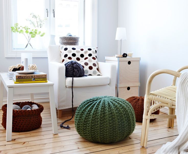 Knitting Room Suomi : Best images about knitted poufs on pinterest