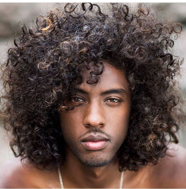 Men With Long Hair Black Growing Out Curly