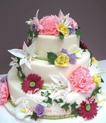 торт с цветами на день рождения - Поиск в Google