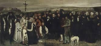 Il Funerale a Ornans, olio su tela, Gustave Courbet,1850, museo d'Orsay, Parigi.