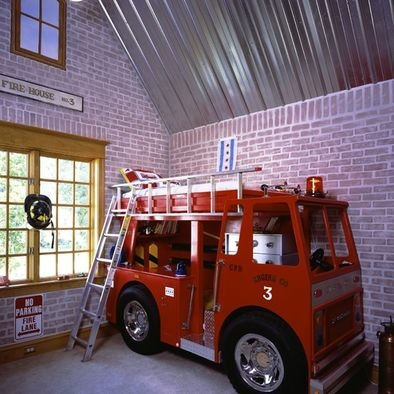 43 best Interactive Play Spaces Fire Themed Childrens Bedrooms