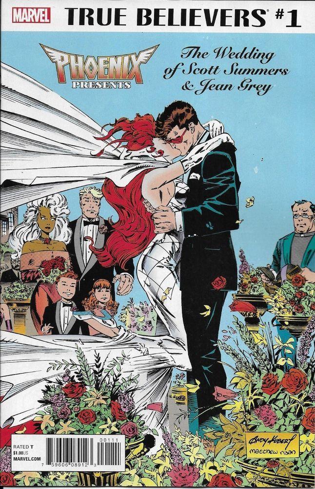 Marvel Phoenix Cyclops Wedding Believers Comic Issue 1 Classic Reprint Comic Book Wedding Comic Covers Marvel Comic Books