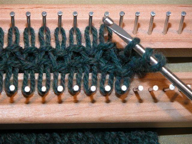 points utilisés au tricotin