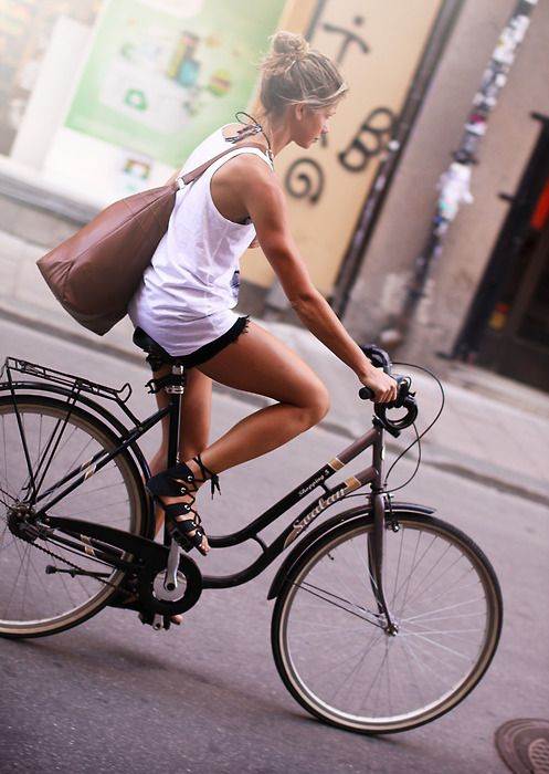 :): Riding A Bike, Laid Back Style, Go Girls, Bike Riding, Tomboys Style, Summer Vibes, Enjoying Life, Cycling Chic, Tones Arm