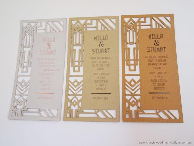 Great Gatsby Wedding Invites: 117 Best Laser Cut Wedding Invites Images On Pinterest