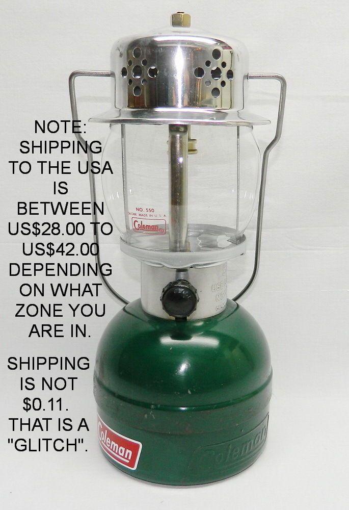 1950s Coleman 5101 Propane Lantern Lamp W 550 Globe