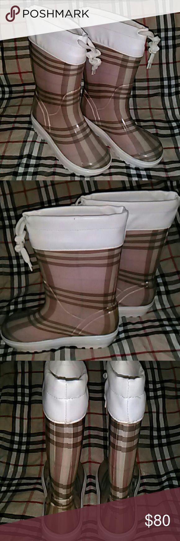 Authentic kids Burberry boots Authentic Burberry kids boots made in Italy Burberry Shoes Rain & Snow Boots