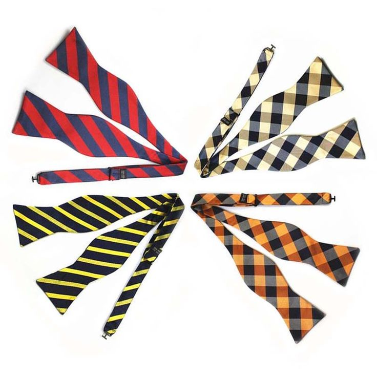 Mantieqingway Self Tied Bow Tie Mens Polyester Semi-bowknot Casual Self-tied Bowties Men Striped Dot Paisley Bow Ties 14Pcs/Lot