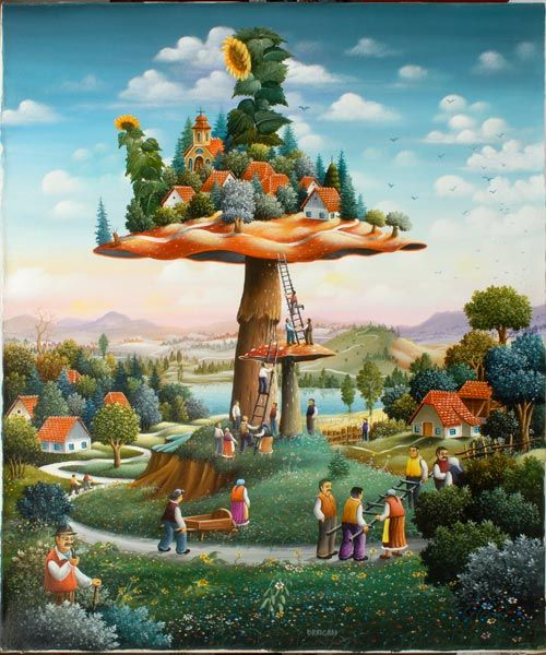 Dragan Mihailovic | Serbian Naive Art info