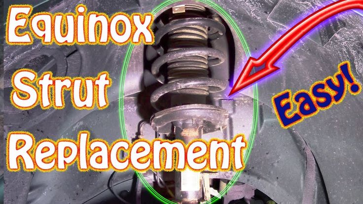DIY How to Replace Front Struts On a Chevy Equinox \ GMC Acadia Using Mo...