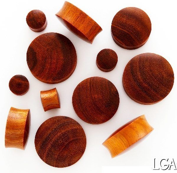 Wood ear Plug Chang Organic Tunnel earlet  3mm - 30mm *FREE POST* - 1 pce