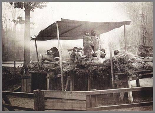 Los Kawésqar sobrevivientes del Jardín Zoologique d' Acclimatatión expuestos en Hamburgo, Alemania 1881.