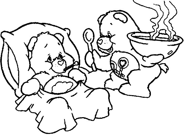 coloring pages of grumpy bear - photo#18