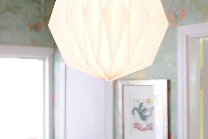 might make something like this for the living room... DIY Origami Lamp Shade