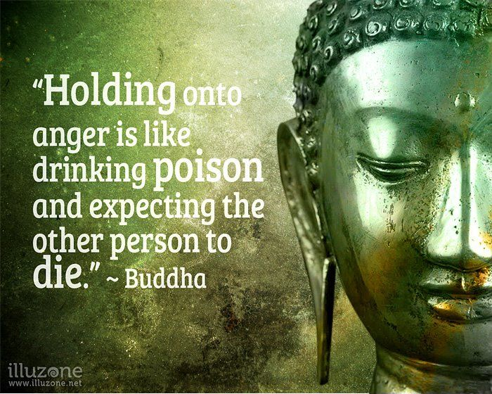 "Holding onto anger...     ""Holding onto anger is like drinking poison and expecting the other person to die."" ~ Buddha.    Check out www.illuzone.net for more awesome quotes."