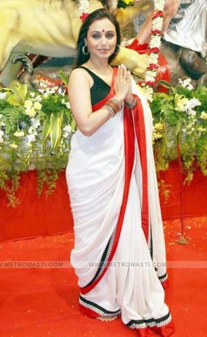 Rani Mukherjee in a Sabyasachi saree